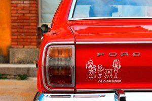 familia vinilo coche