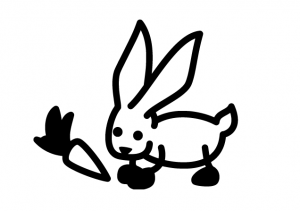 autocollant lapin