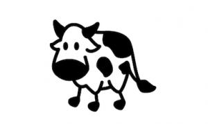 autocollant vache