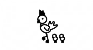 Chicken car decal