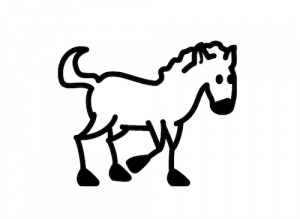 Horse car decals
