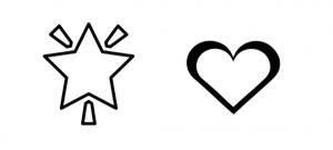 stickers coeur & étoiles
