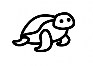 Turtle car decal