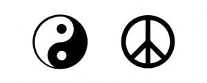 simbolo de la paz & yin yang