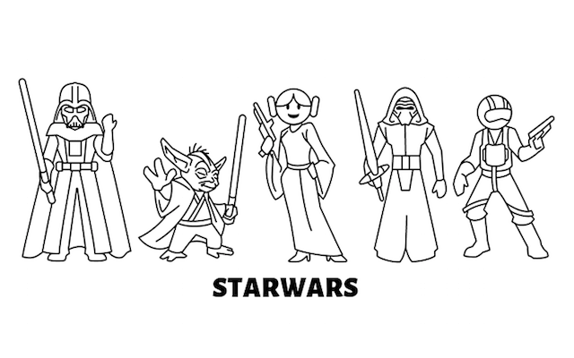 Star Wars figurer och symboler