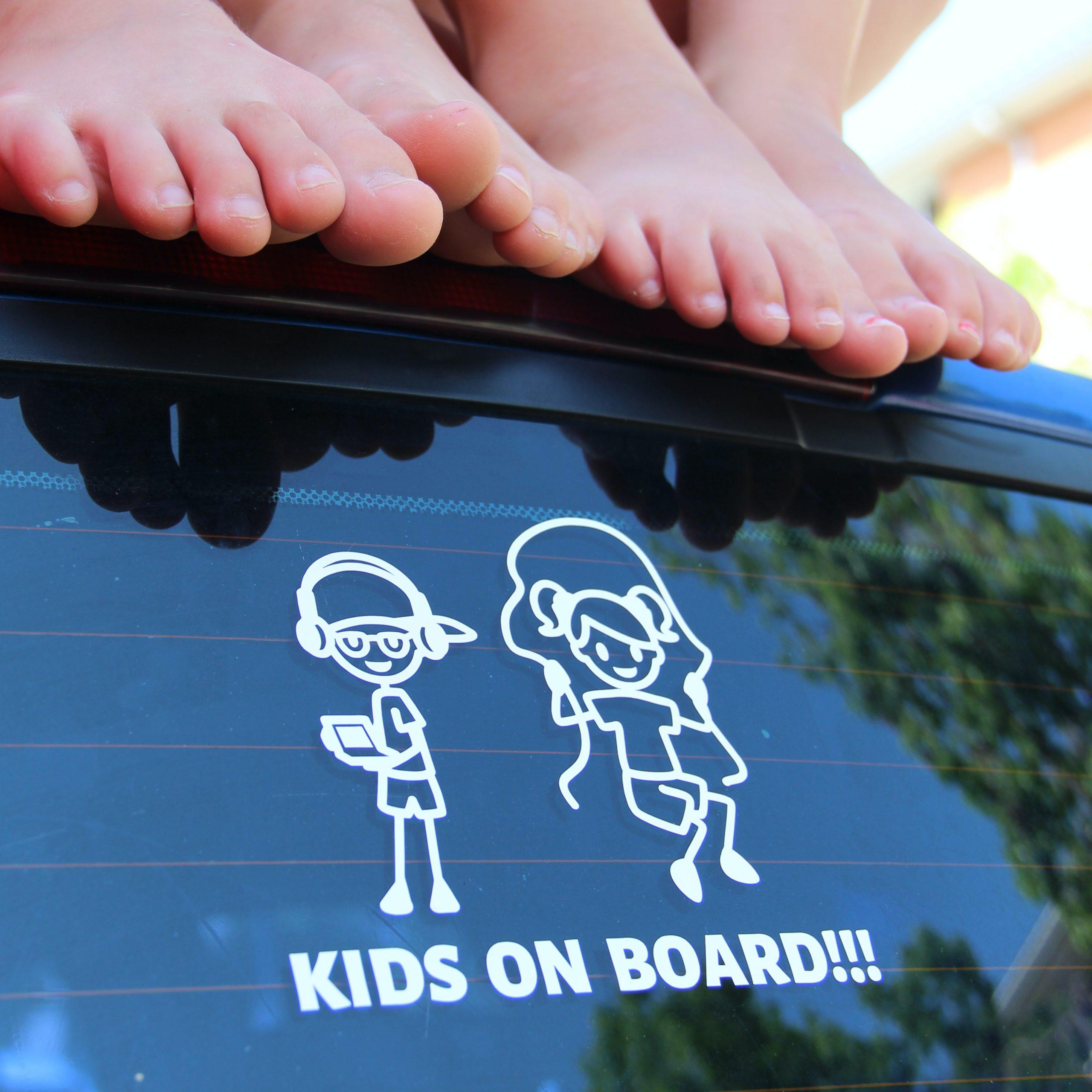 Pegatina niños a bordo