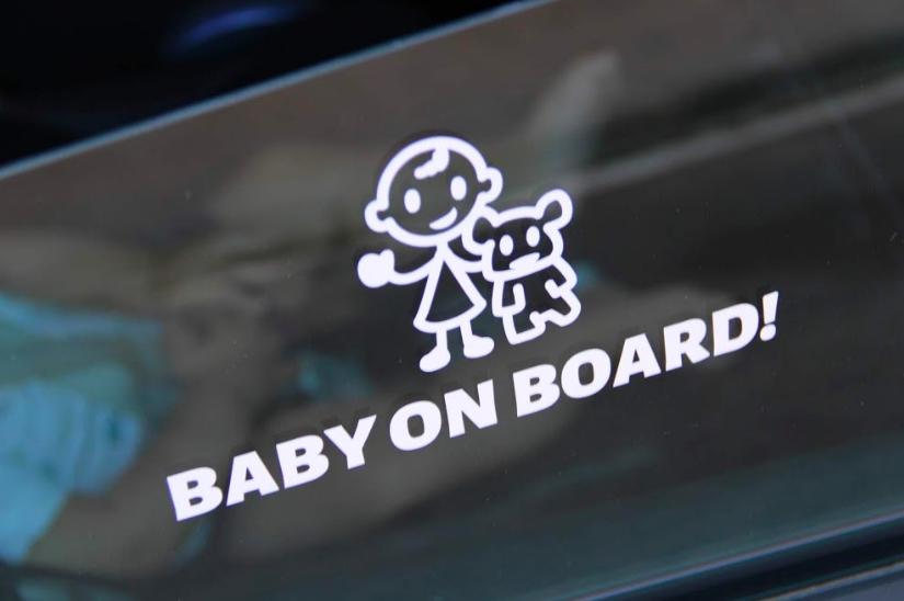 Pegatinas bebe a bordo personalizadas