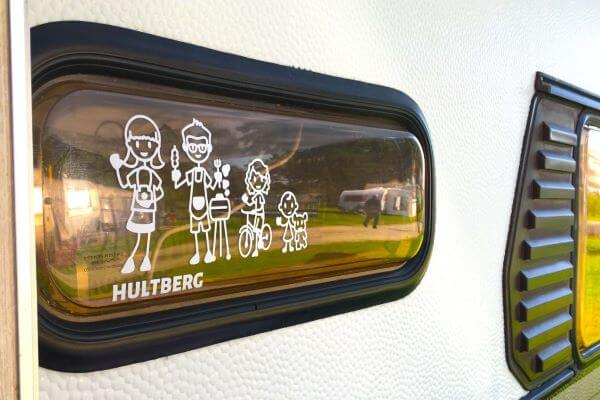 Familjestickers för din husvagn