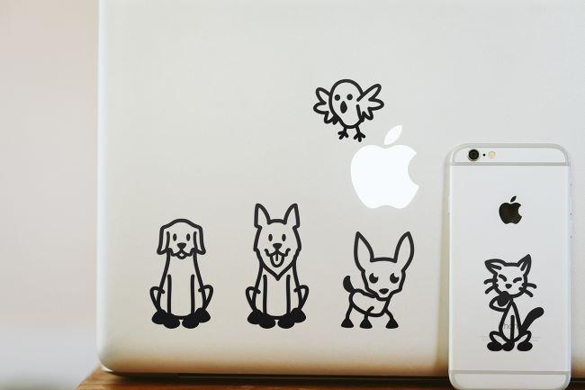Stickers till datorn och mobilen