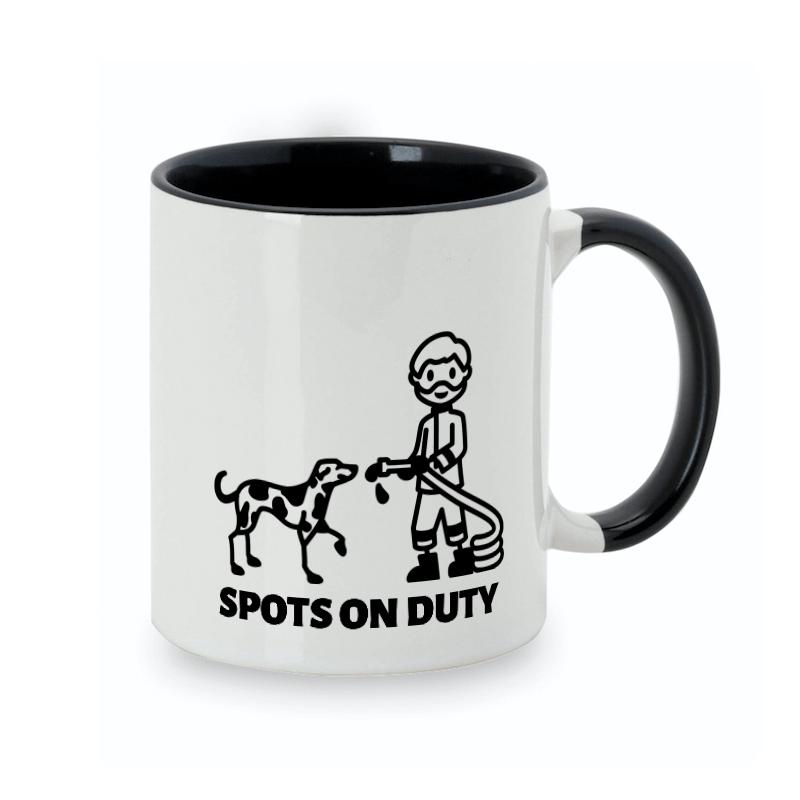 4-legged firefighter deserved his own dog mug design