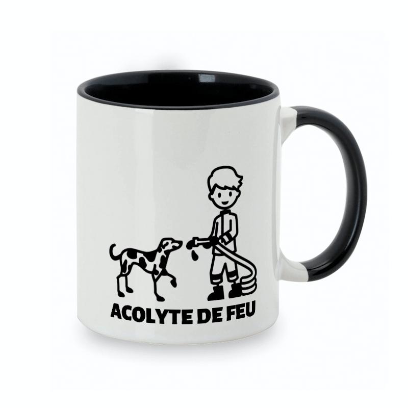 Tasse personnalisée chien-maître spéciale pompier