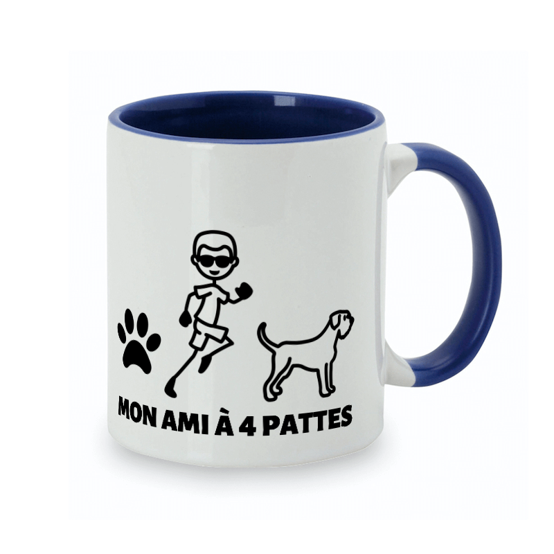 Crée une tasse personnalisée chien-maître de ton  ami Schnauzer