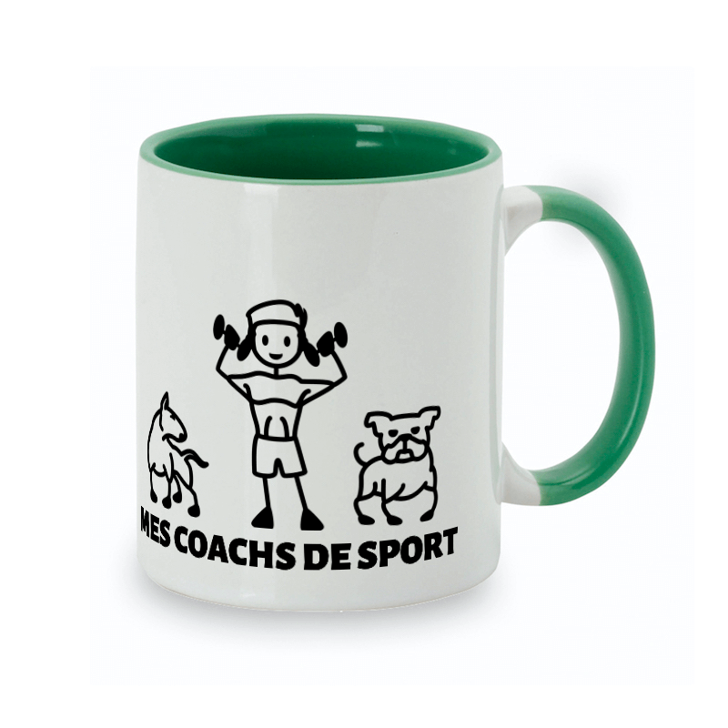 Tasse personnalisée chien-maître thème sport