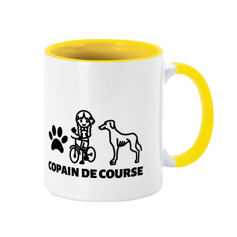 Tasse personnalisée chien-maître lévrier