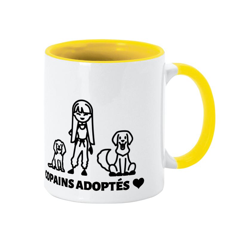 Tasse personnalisée chien-maître thème adoption