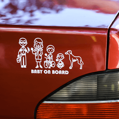 A family sticker for your car
