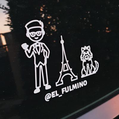 Social Media handle car sticker