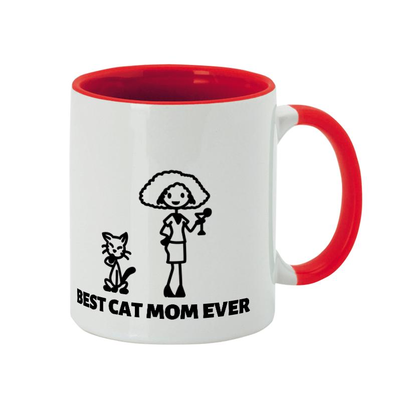 Mug personnalisée meilleure maman chat