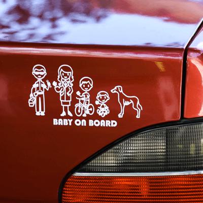 Crée un sticker personnalisé pour décorer ta voiture avec ta famille!
