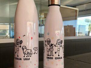 Botella en dos tamaños
