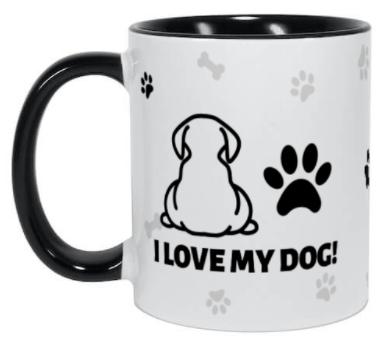 Taza personalizada para amante de los perros