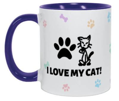 Taza personalizada para los amantes de los gatos