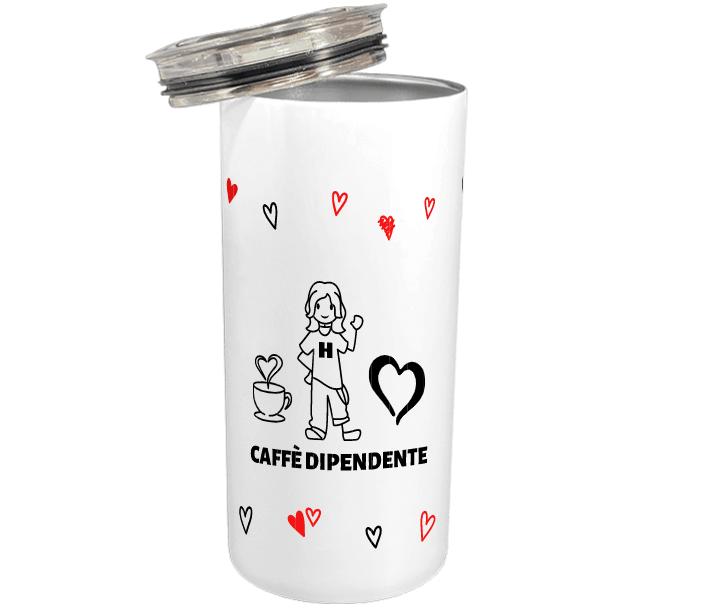 tazza termica personalizzata coffee addict