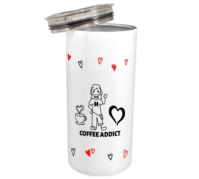 coffee addict thermos mug