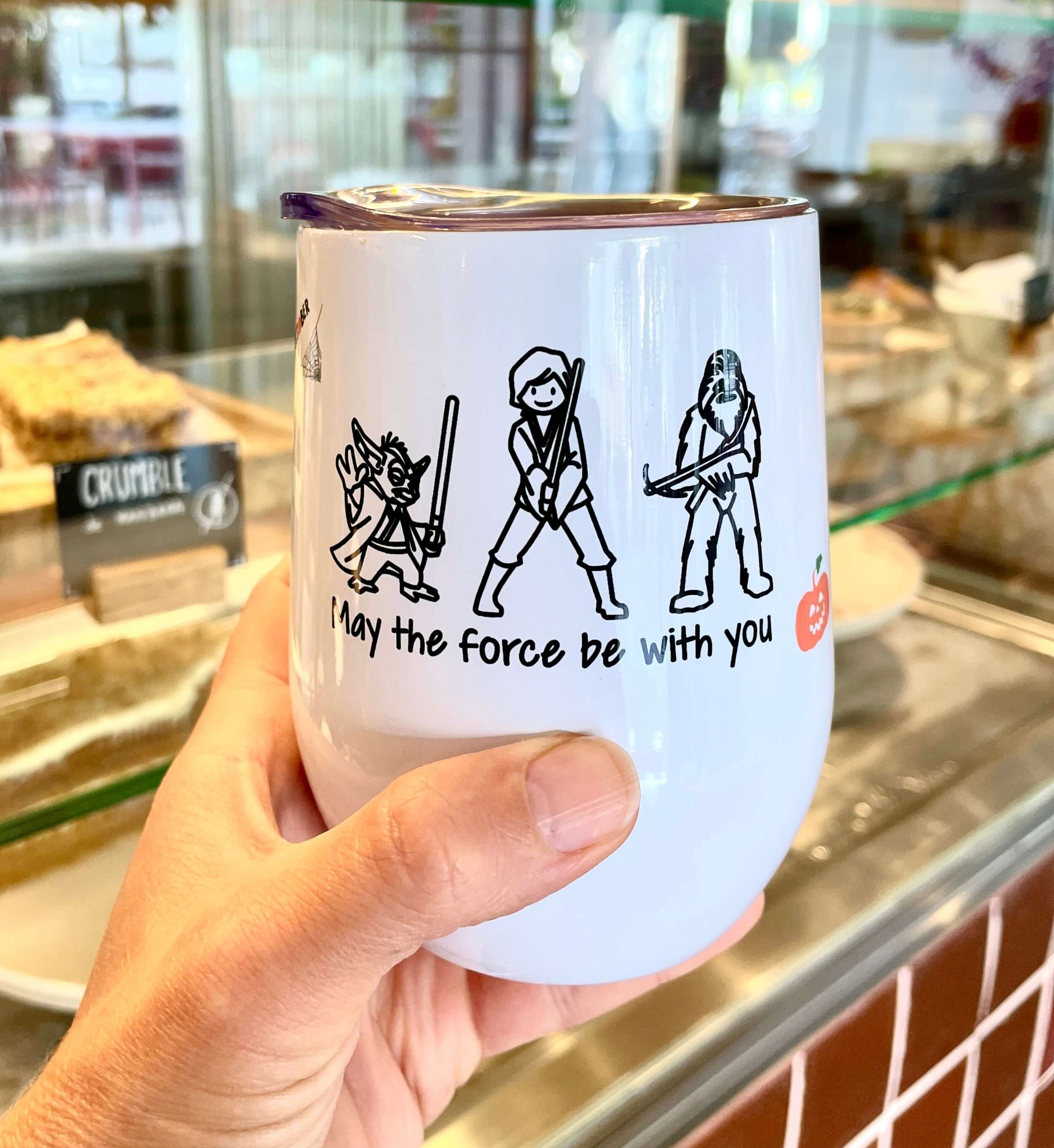 thermal mug with personalized halloween gift design